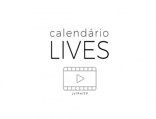 Calendário de Lives.